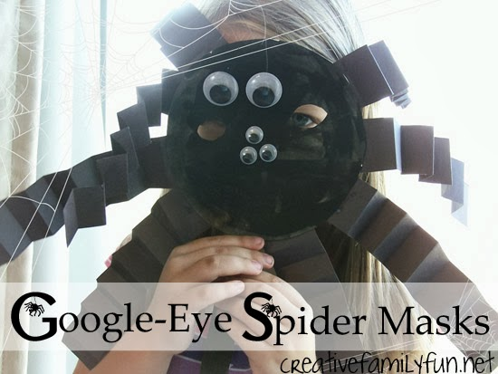 Googly-Eye Spider Masks…