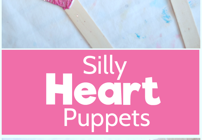Silly Heart Puppets