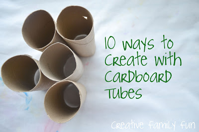 10 Ways to Create With Cardboard Tubes