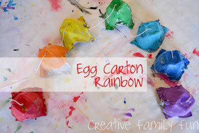 Egg Carton Rainbows