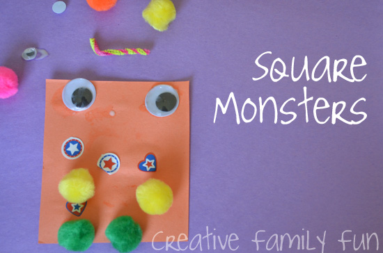 Get Crafty: Square Monsters