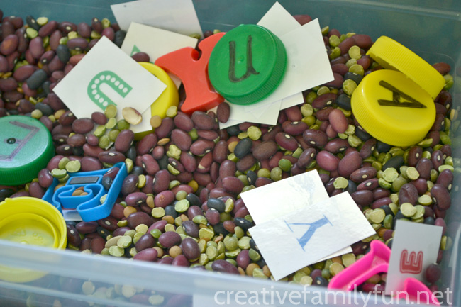 Name Recognition Sensory Bin