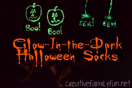 Glow-In-the-Dark Halloween Socks