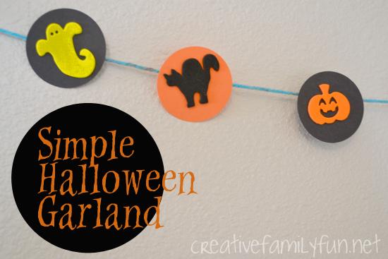 Get Crafty: Simple Halloween Garland