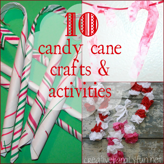 10 candy cane crafts activities creative family fun for Easy candy cane crafts
