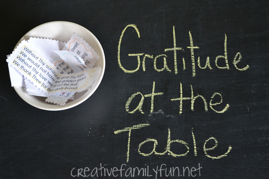 Gratitude at the Table