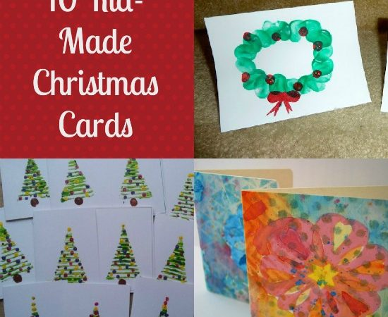 10 Kid-Made Christmas Cards