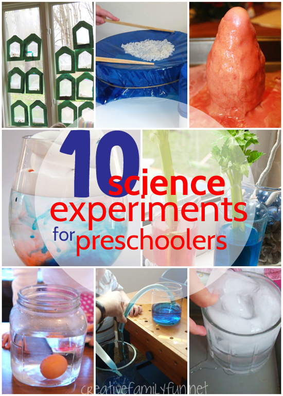Science experiments for preschool