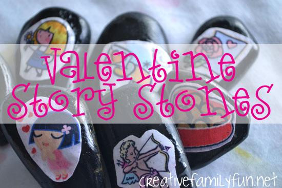 Valentine Story Stones