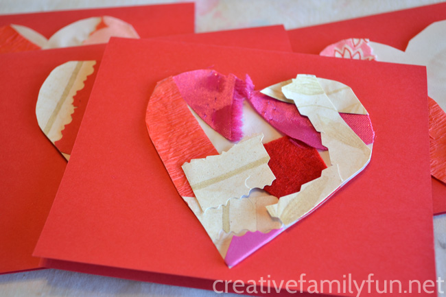 Collage Heart Valentines