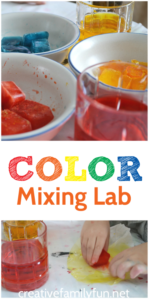 Combine art and science into a fun STEAM project where you can learn about color mixing. This color mixing lab is a fun hands-on sensory activity.