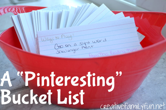 A Pinteresting Bucket List For the Kids
