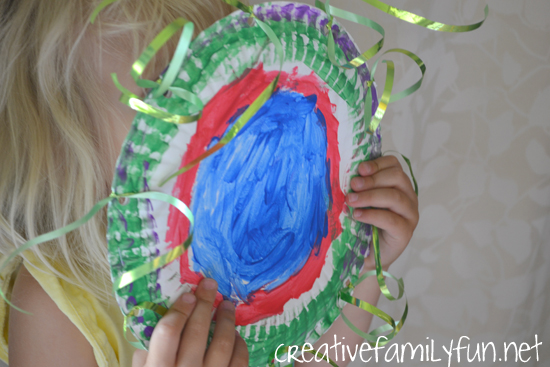 Make your own musical instrument with this fun classic kids craft, Paper Plate Tambourine. It's fun for preschoolers to make and play their own instrument.