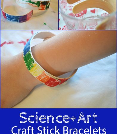 Science + Art: Craft Stick Bracelets