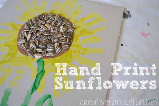 Hand Print Sunflower