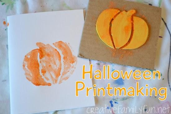 Halloween Printmaking