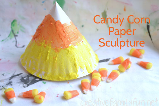 Candy Corn Paper Sculpture