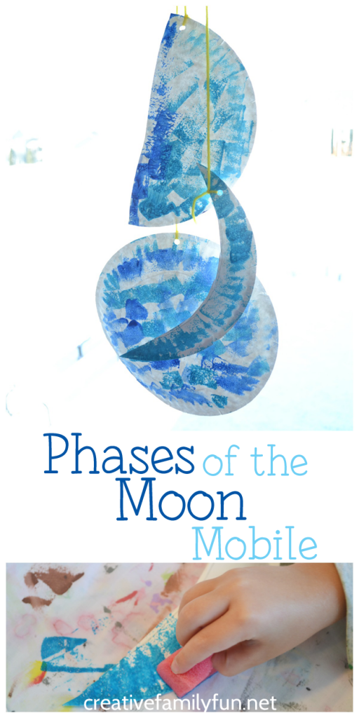 Learn about the phases of the moon and create a beautiful moon mobile kids craft.