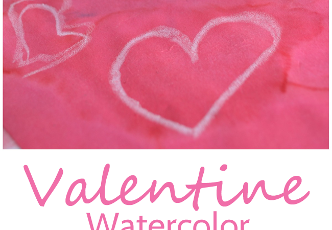 Valentine Watercolor Resist Painting