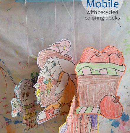 Four Seasons Mobile with Recycled Coloring Books