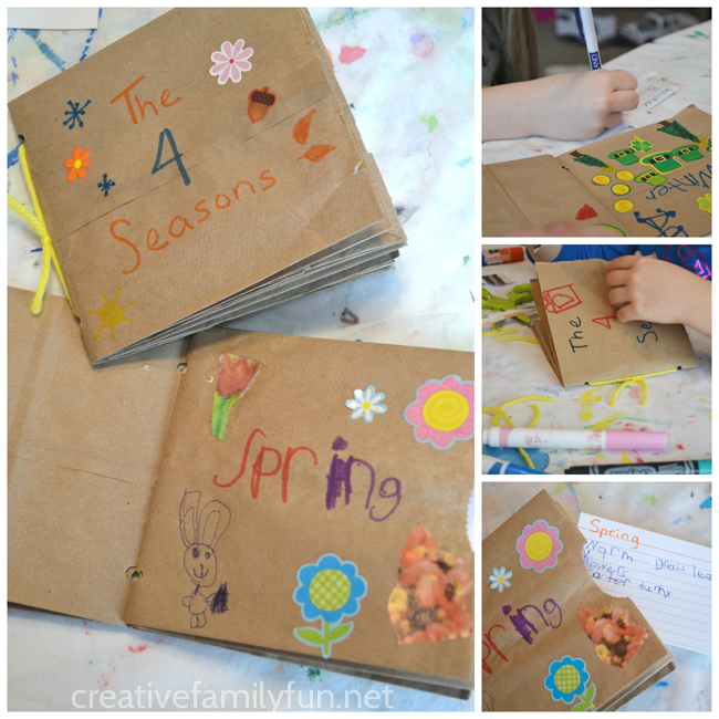 Cover School Book With Paper Bag : My book of the four seasons a paper bag creative