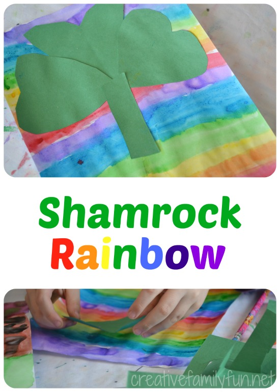 Make an easy rainbow shamrock craft for St. Patrick's Day