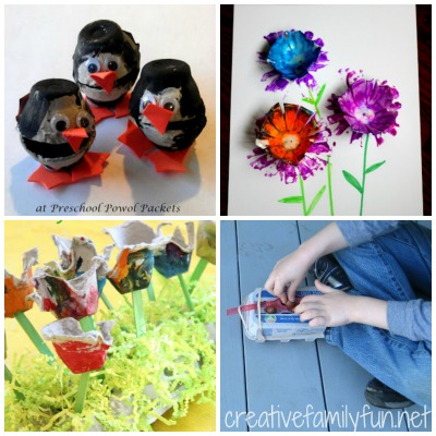 Grab your supplies from the recycling bin to make some of the ideas from this fun collection of recycled crafts for kids.