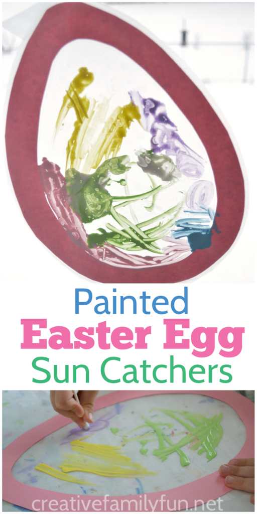 Decorate your windows with these pretty painted Easter egg suncatchers.