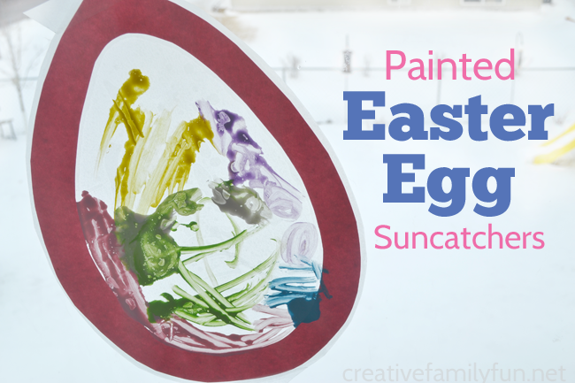 Painted Easter Egg Suncatchers