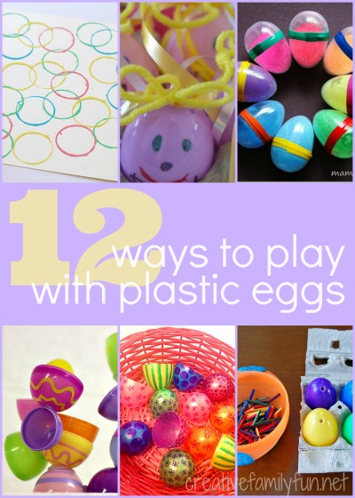 12 fun kids crafts and activities with plastic Easter Eggs