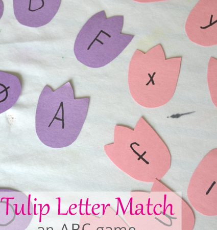 Tulip Letter Match Game