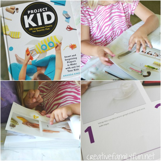 Grab this great craft book for kids, Project Kid: 100 Ingenious Crafts for Family Fun, for hours of fun you can do with your kids. Great for tweens too!