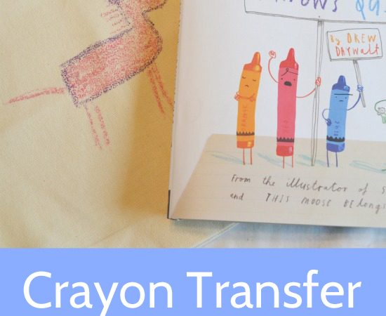 Crayon Transfer Library Totes