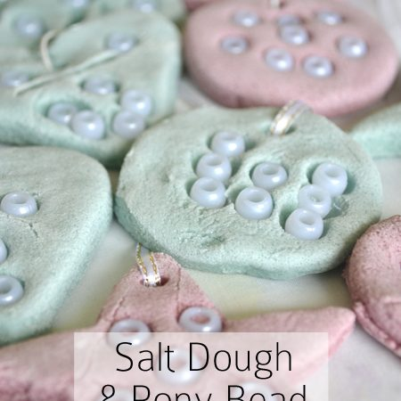 Salt Dough and Pony Bead Decorations