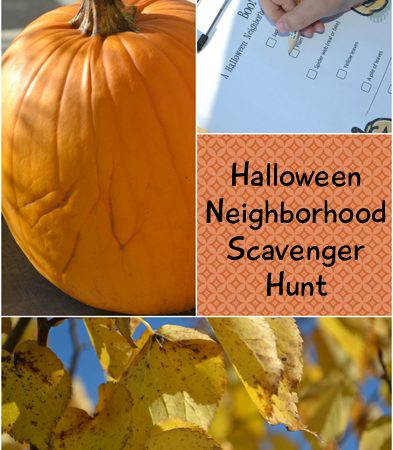 Halloween Neighborhood Scavenger Hunt