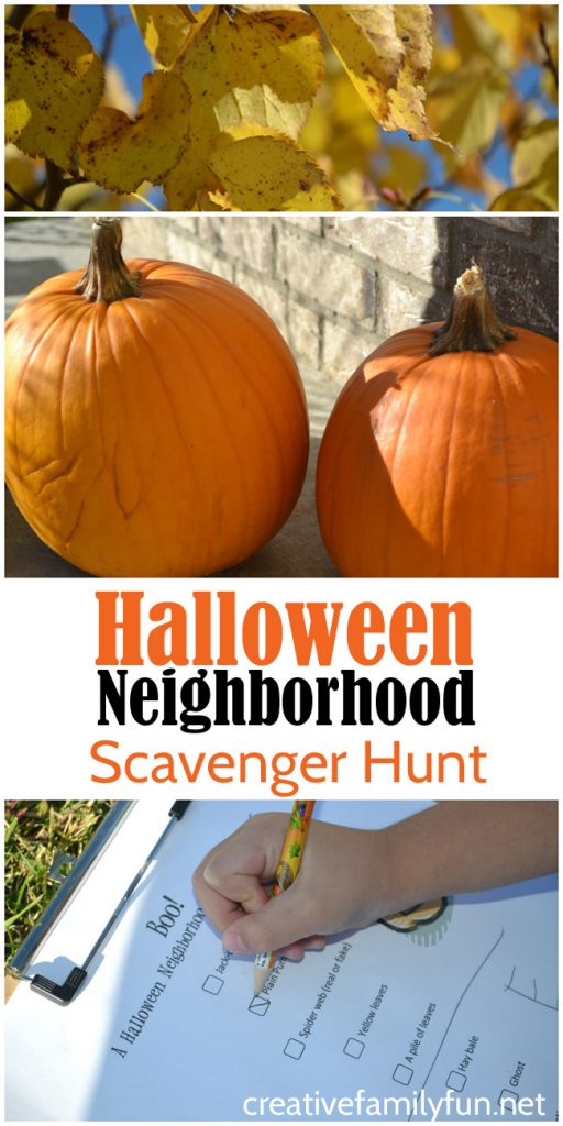 Let the kids explore the neighborhood with this fun Halloween scavenger hunt. It's great for last-minute family fun.