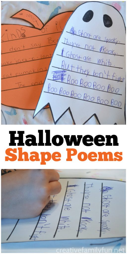 These fun Halloween shape poems are a perfect way for kids to practice a little creative writing.