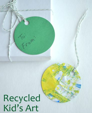 Recycled Kid's Art Gift Tags
