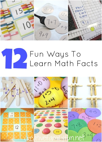 Ditch the flash cards and practice math with one of these fun ways to practice math facts. These ideas are fun for home or the classroom.
