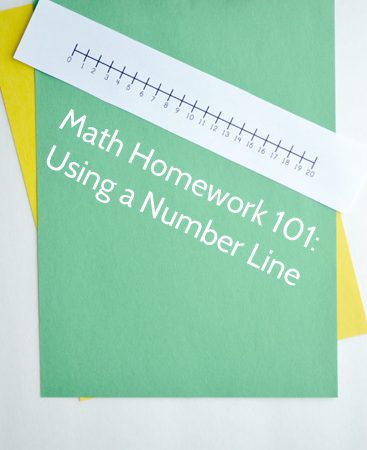 Math Homework 101: Using a Number Line
