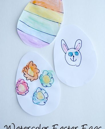 Watercolor Easter Eggs