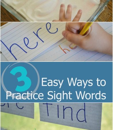 3 Easy Ways to Practice Sight Words