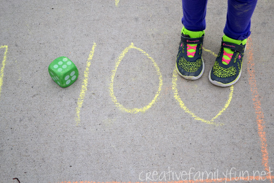Driveway Hundred Chart Game