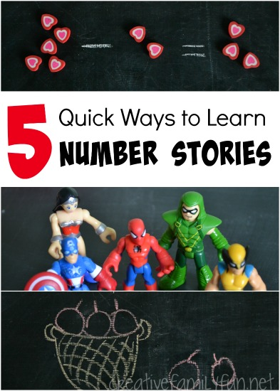 Practicing number stories? Here are 5 quick and simple ideas to help your child at home.