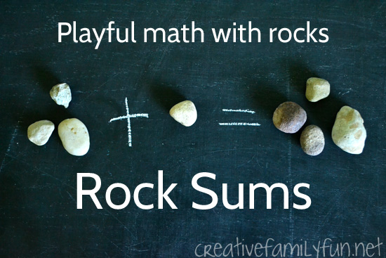 Addition with Rocks: An Outdoor Math Activity