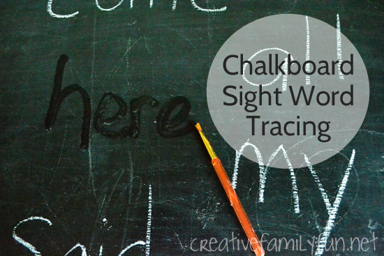 Chalkboard Sight Word Tracing
