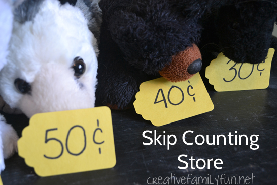 Skip Counting by 10 Pretend Play Store