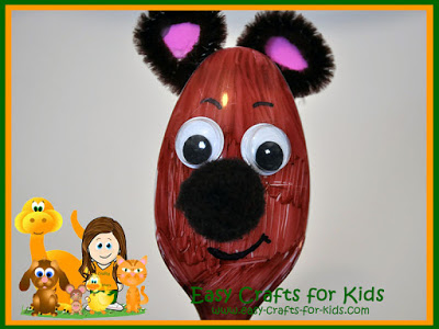 Spoon Bear Craft for Kids