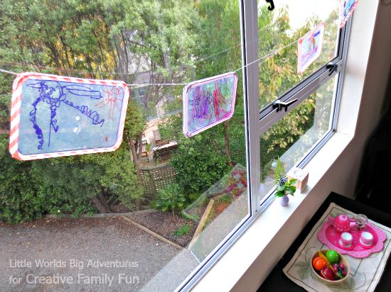 Get out the Sharpies to make this beautiful and easy suncatcher craft for kids. Your kids will love expressing their creativity with this project.