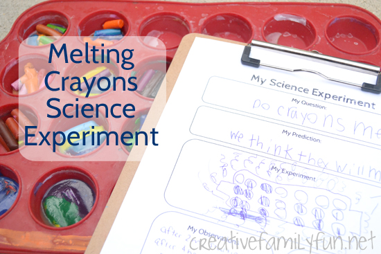 Melting Crayons Science Experiment